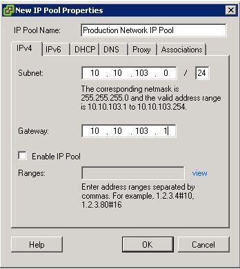 New IP Pool Properties