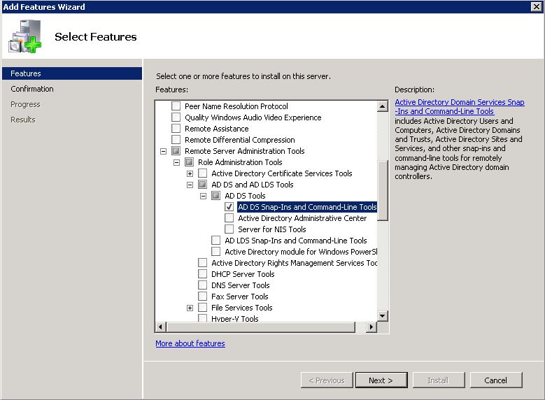 Add Remote Server Administration Tools