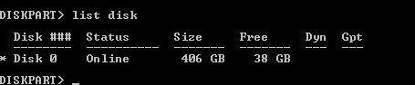 diskpart-listdisk-done