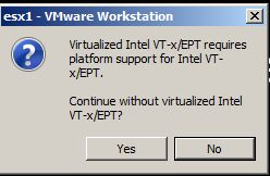 Virtualized Intel VT-x/EPT alert