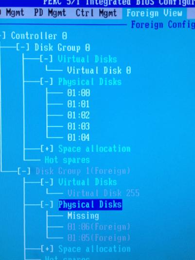 PERC 5/i Integrated Bios Configuration