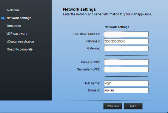 Confirm or edit network settings