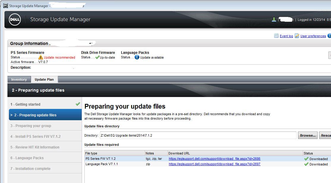 Preparing your update files