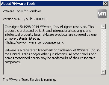 VMware Tools version